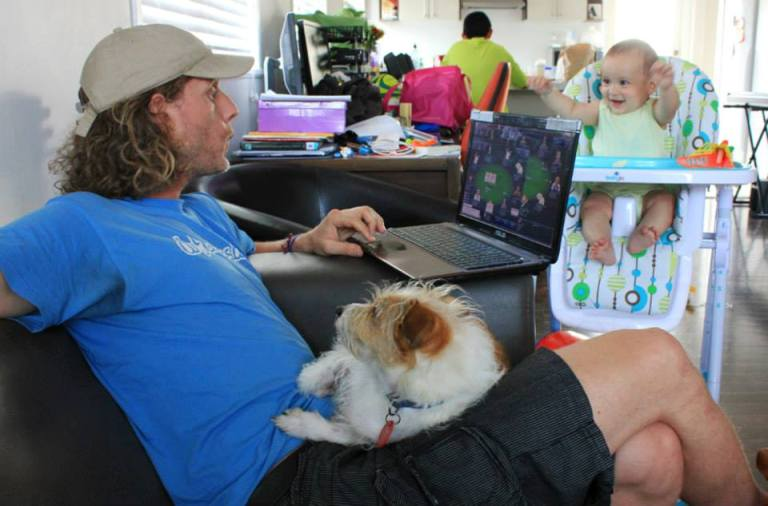 Progress through life - play poker, baby sit and dog sit while globe trotting